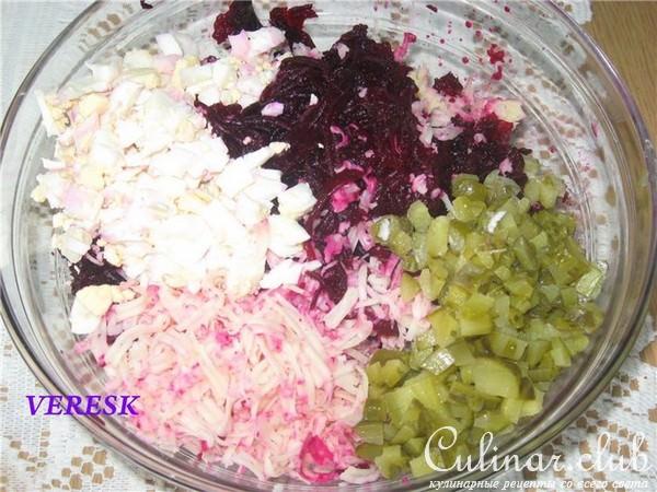 Свекла и яйца салат рецепт с