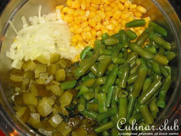 Салат стручковая фасоль с фото