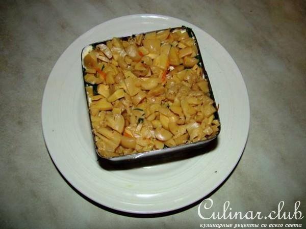 Лесная опушка с опятами салат рецепт