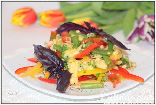 Кабачок с болгарским перцем рецепт с фото