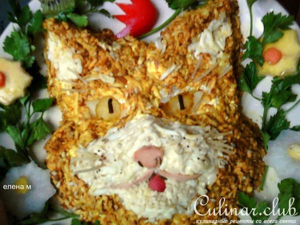 Салат кот фото