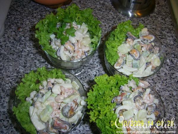 Салат из морепродуктов с авокадо рецепты на праздничный стол 161