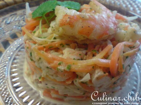 Салат с сельдереем и креветками
