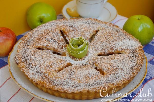 Яблочный пирог на протвине рецепт с фото
