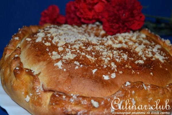 Слоеный пирог джемом рецепт фото