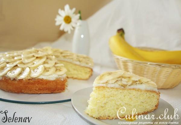 Банановый пирог с кремом рецепт с