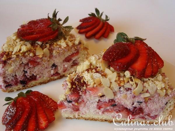 рецепт пирога с земляникой в духовке