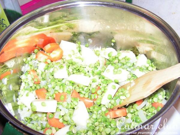 Гороховый суп с клецками рецепт с фото