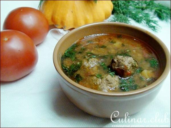 тефтелевый суп с томатом рецепт