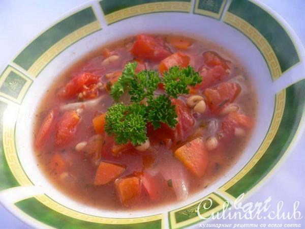 Как сварить суп из банки с фасолью