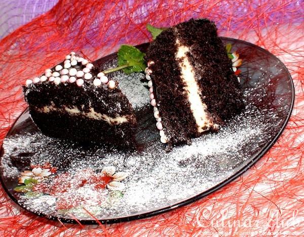 Шифоновый шоколадный бисквит рецепт с фото пошагово