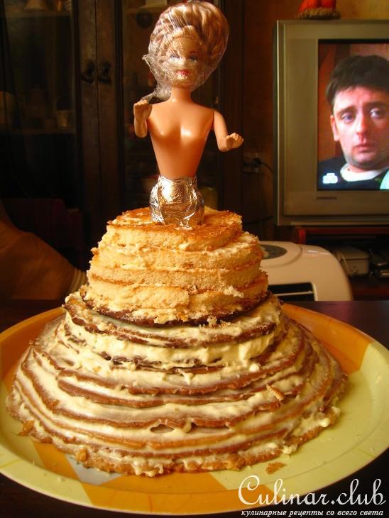 Как сделать торт-кукла