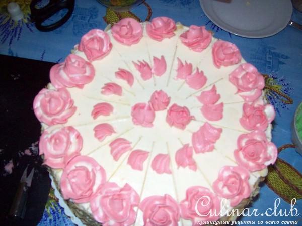 Украшение торта масляным кремом картинки