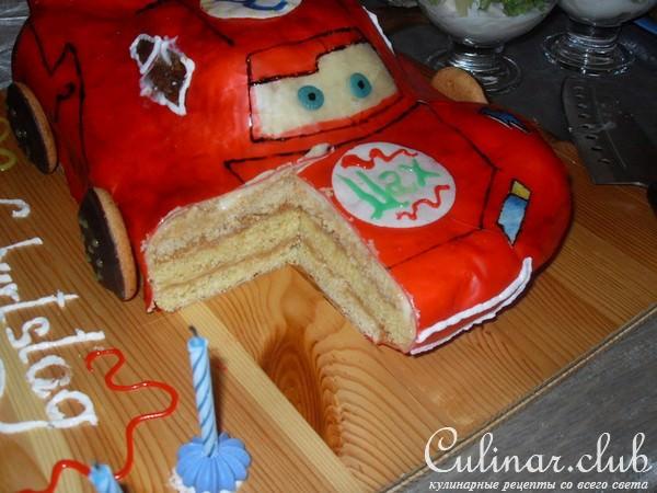 Сделать торт с тачками