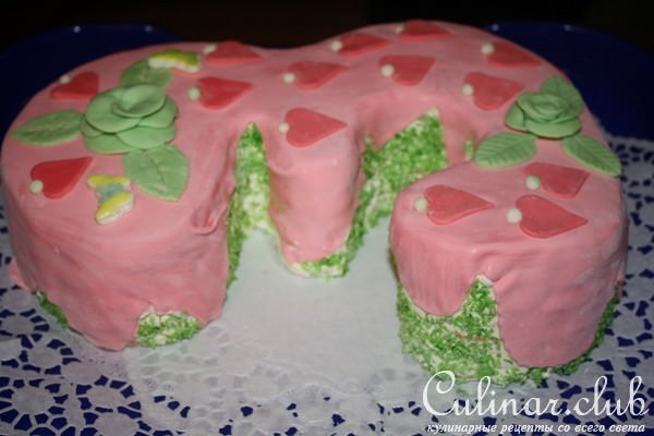 Тортики покрытые мастикой пошаговое фото