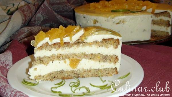 Торт с апельсиновым кремом рецепт с фото