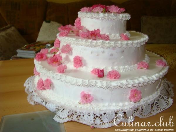 Свадебные торты своими руками из сливок