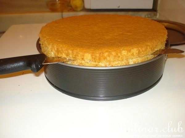 Бисквит на подсолнечном масле рецепт фото