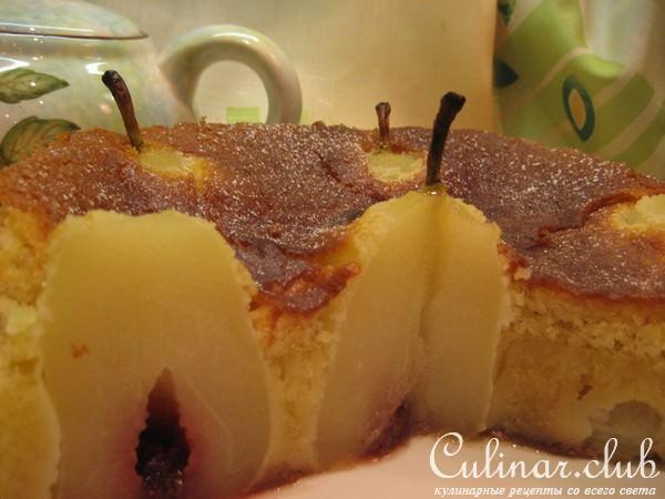 Бисквитный торт с грушами рецепт