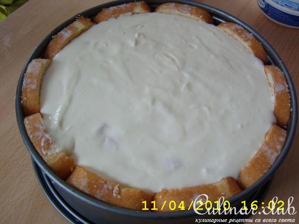 Торт с рулетов без выпечки