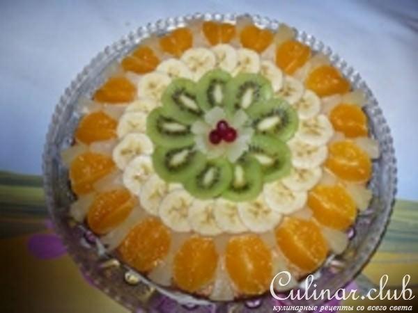 Как красиво украсить торт фруктами в домашних
