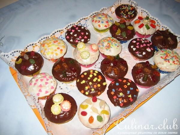 Детские кексики на день рождения рецепты