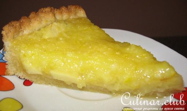 Открытый пирог с лимоном рецепты