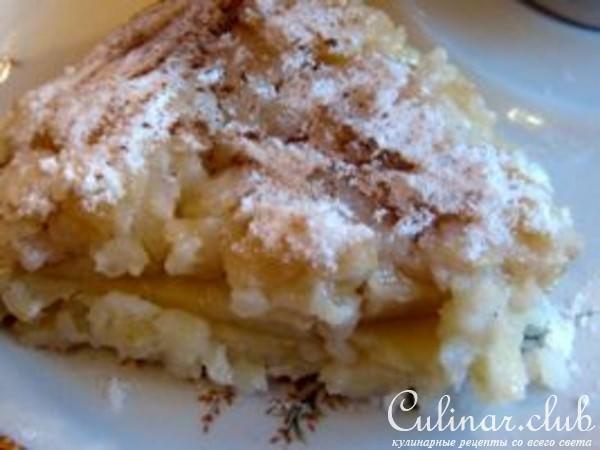 Шарлотка рисовая с яблоками рецепт с фото
