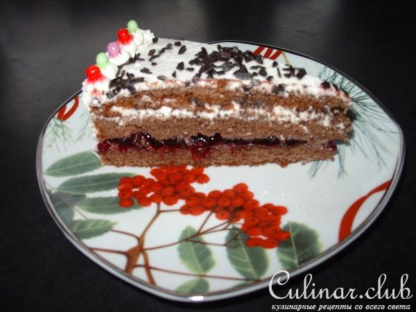 торт с брусникой рецепт с фото