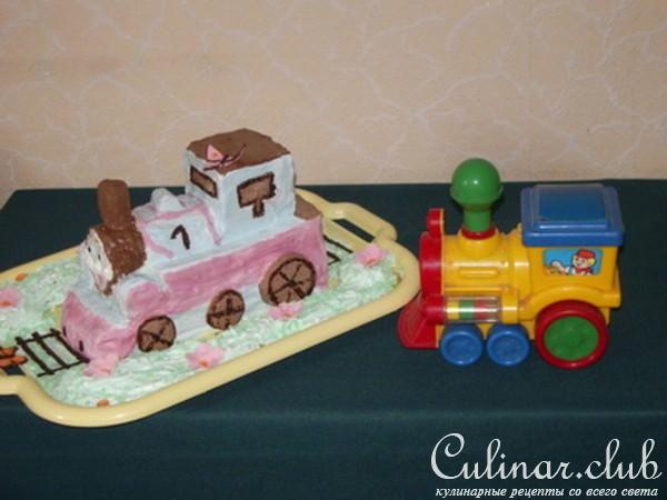 Торт паровоз с пошаговым фото
