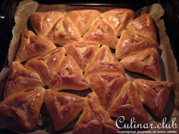 треугольники с мясом и картошкой пошаговый рецепт с фото тесто