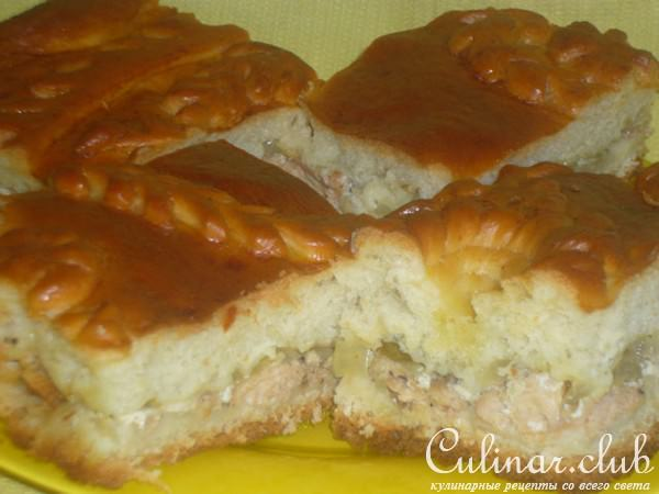 Пирог с кетой рецепт с фото пошагово