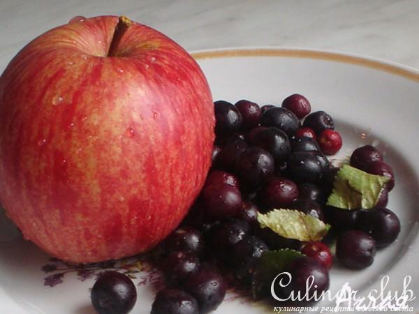 Компот из черноплодки и яблок рецепт с