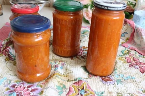 заготовки соусов на зиму рецепты с фото