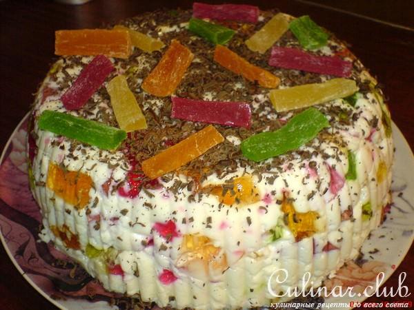 Пошаговое приготовление торта битое стекло с фото